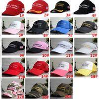 Wholesale DHL Unisex Women Men Make America Great Again Baseball Hats Donald Republican Mesh Snapbacks Basketball Ball Hat Cap Stylish FB H03