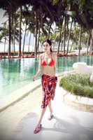 beach stills - Women s summer sea is still buoyant love stripes bikini swimsuit veil red stripes sun beach scarf