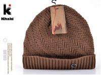 Wholesale 2016 winter beanie knitted wool hat plus velvet cap Thicker mens hats beanies for men bonnet colors