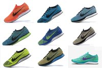 active sneakers - Flyknit Racer Trainer Lightweight Walking Hiking Flat Sneaker color running shoes