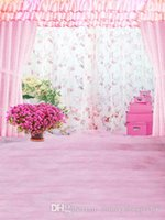 baby room curtains - Indoor Room Pink Curtain Princess Children Baby Custom Photography for Photo Studio Vinyl Cloth Backdrop Photo Backgrounds