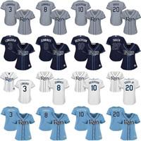 baseballs dickerson - women Evan Longoria Desmond Jennings Corey Dickerson Steven Souza Jr Tampa Bay Rays Baseball Jersey stitched size S XL