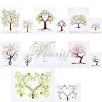 Wholesale 30cm cm Fingerprint Thumbprint Tree Signature Guest Book Wedding Party Graduation original Painting for People Top quality