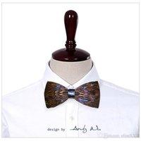 Wholesale 2016 men s fashion original brand designer handmade feather bow tie boys bowtie wedding neck ties necktie noeud papillon pajaritas homb