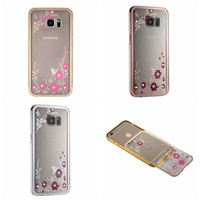 Yes aluminum flower - For Galaxy S6 Edge Plus S5 Note Note5 Secret Garden Flower Hard PC Case Aluminum Metal Bumper Bling Diamond Deluxe Fashion Hybrid Skin