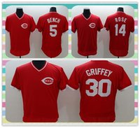bench product - New Product New Men Cincinnati Reds Baseball Jersey Johnny Bench Pete Rose Ken Griffey Red Throwback Jerseys