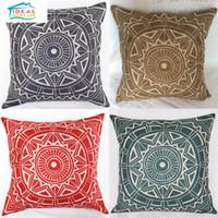 Wholesale Hot Sale Compass Circle Polyline Cushion Cover Home Sofa Car Chair Throw Pillows Case Square Decorative capas de almofada