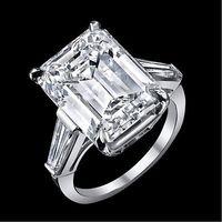 baguette cut ring - 12 ct GIA J VS1 emerald cut baguette diamond engagement stone ring platinum