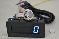 Wholesale Digital blue LED Tachometer RPM Speed Meter Hall Proximity Switch Sensor NPN