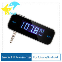 Wholesale Mini Wireless Transmitter mm In car Music Audio FM Transmitter For iPhone S Plus Samsung iPad Car MP3 Transmitter