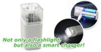 Cheap 2pcs KENTLI 1.5v 2800mWh Li-polymer li-ion lithium rechargeable AA battery batterie + 4 slots Charger w  LED flashlight
