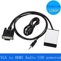 av converter usb - 1080P VGA To HDMI Output USB Audio TV AV HDTV USB Cable Audio Video Cable Converter Adapter