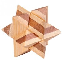 bamboo interlock - Classic IQ Brain Teaser D Wooden Interlocking Burr Puzzles Game Toy For Adults And Kids
