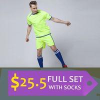 Cheap Adult Men Full Kits (Shirt & Shorts & socks) Wholesale & Reseller Soccer jersey custom team football shirt the Best quality