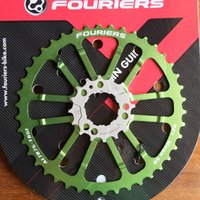 bicycle chainrings - pc Green Fouriers CNC Single Chain Ring Bike Bicycle Chainrings Sprocket T T For S S H I M A N O B C D mm