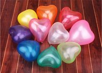 baby shower lanterns - inch Thickening Heart Pearl Balloons Wedding Party Birthday Decoration Baby Showers Party Decorations Balloons