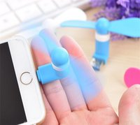 Wholesale Mini USB Fan Pin Flexible Portable Super Mute Cooler Cooling For Android Phone Iphone S Plus