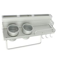 aluminum dinnerware - Aluminum Shelf Kitchen Storage Rack Pantry Pan Pot Organizer Cookware Holder Hooks Spice Dinnerware Shelf cm Long