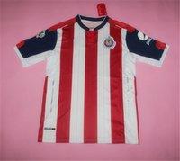 Wholesale 16 Mexico Chivas de Guadalajara Home Soccer Jerseys Best Quality Guadalajara O BRAVO E LOPEZ N CALDERON GULLIT Soccer Football Jersey