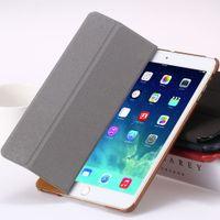 Wholesale for iPad Smart Case Luxury Deer Leather Cover for apple ipad2 ipad3 ipad4 Stand Folded Sleep Awake Tablets Bags Casual