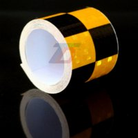 adhesive strips for cars - 0mx5cm Sticker for Car styling Accessories Reflective Strips Motorcycle Truck Checkerboard Printed Safety Warning Adhesive Tape Cheap ta