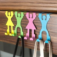 Wholesale 4pcs CM Creative Back Clothes Door Hook Houseware Door Robe Hooks Clothes Door Hanger Using In Kitchen Hospital School