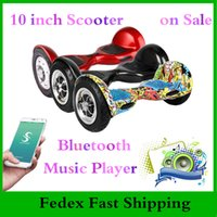 Wholesale 10 inch Two Wheels Scooter Electric Hoverboard Bluetooth Remote Smart Skateboard Adult Self Balancing Wheel Drop Shipping
