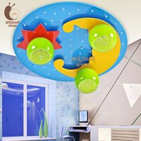 Wholesale Male and female children bedroom of children room lamp lights the room lamps and lanterns of cartoon stars the moon