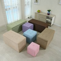 Wholesale Multifunctional storage stool folding stool small people can sit toy box storage box sofa stool changing his shoes