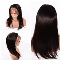 Wholesale Best quality Human Hair Lace Front Wigs With Baby Hair Straight Glueless Full Lace Wig