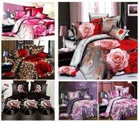 achat en gros de 3d bed set-lit la propagation de Hot vente Linge de maison literie New 3D défini le style à la mode set Queen size