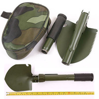Wholesale Folding Shovel Compass Saw Bottle Opener Survival Outdoor Tool For Travel Camping Garden With Carry Bag