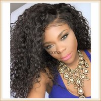 bank grade - 8A Top grade virgin human hair wigs deep curly wig full lace wig lace front wigs with baby hair glueless silk base