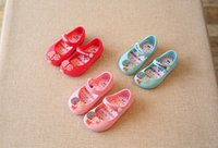 Wholesale Mini Melissa Shoes Summer NEW Children Sandals lollipops Zaxy Toddler Girls Circus Ballet Flat sandals