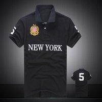 Wholesale Summer Hot Sale Polo Shirt USA American Flag Brand Polos Men Short Sleeve Sport Polo Man Coat Drop