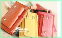 assure red - High quality multi function handbag leather key wallets Quality assured purse CY03
