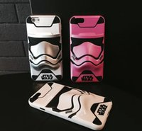 apple soldier - 2017 new Star Wars D White soldiers Cartoon Case Master Character Figure Back Cover Cases For iPhone5s S Plus Samsung S7 edge DHL Free