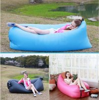 Wholesale Inflatable Outdoor Air Sleep Sofa Couch Portable Furniture Sleeping Hangout Lounger Imitate Nylon External Internal PVC for Summer Camping