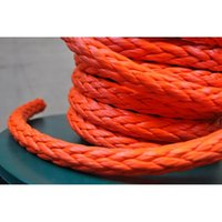atv winch hook - quot x Orange Synthetic Winch Line Cable Rope with Sheath and Hook ATV UTV x OFF ROAD