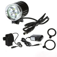 Wholesale Lumen x CREE XML T6 LED Bicycle Cycle Bike Light Headlight Headlamp Head Torch Modes led Head lamp with battery charger