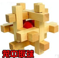 Wholesale Toy Intelligence Wooden Wood d Iq Puzzle Magic Cube Toy Brain Teaser Gift Classical Intellectual Wooden Puzzle Unlock Tinker Toys ZD024C