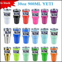 Wholesale In Stock Rambler Tumbler oz oz oz YETI Cups Cars Beer Mug Large Capacity Mug Tumblerful Yeti cups via DHL