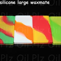 Wholesale 10pcs large Waxmate Containers Silicone Rubber Silicon Storage Square Shape Wax Jars Dab Tool Dabber Oil Holder for Vaporizer Dry Herb DHL