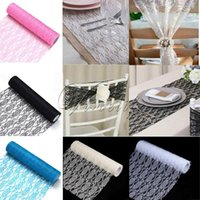 Wholesale Top quality quot x10Yard Vintage Lace Roll Fabric Tulle Roll Tutu Skirt Table Runner Chair Sash Wedding Party Decor Supply