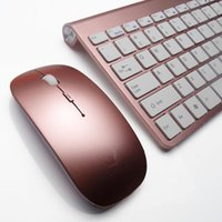 Wholesale Wireless Keyboard Mouse Kit For Tablet Mini Ultra Thin Ghz keyboard for Macbook Mac iPad Air Etc Keyboards