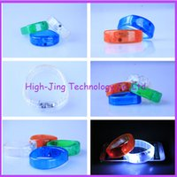 Wholesale LED Colorful Flashing Bracelet Light Blinking Crystal Voice Control LED Bracelets party and gifts sound activated led wristband