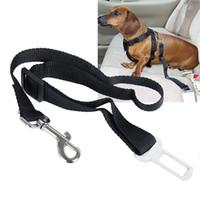 Wholesale Seatbelt Harness - 2016 New 8 Colors Qualified Vehicle Traction belt Car Seat Belt Seatbelt Harness Lead Clip Pet Cat Dog Safety