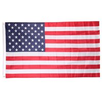 Wholesale 100 Polyester USA US Flag cmx150cm American Flag FT United States Stars Stripes Be Proud Show off Your Patriotism Feet DHL