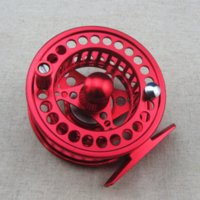Wholesale CNC Machined Aluminum Fly Fishing Reel mm Left Right Handed Red Color River Trout Fishing
