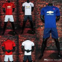 Wholesale 2016 MancHESTER IBRAHIMOVIC Pogba SOCCER JERSEY AWAY BLUE ROONEY MEMPHIS MARTIAL unITED football jersey Kit jersey
